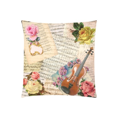 """VICTORIAN VINTAGE III Custom Zippered Pillow Cases 20""""x20"""" (Two Sides)"""