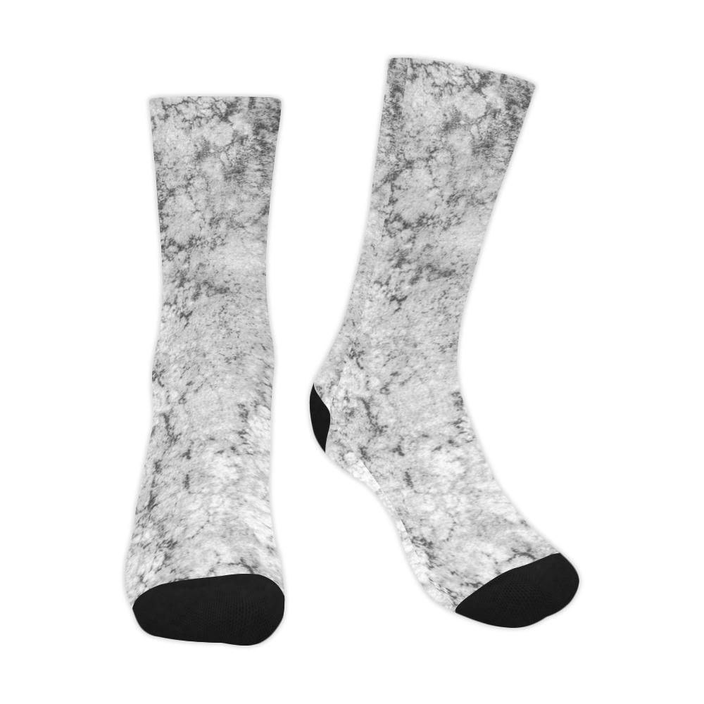 Textured gray Trouser Socks