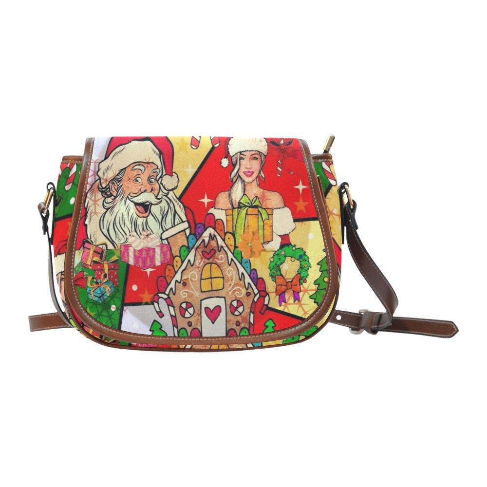 Santa Baby by Nico Bielow Saddle Bag/Large (Model 1649)