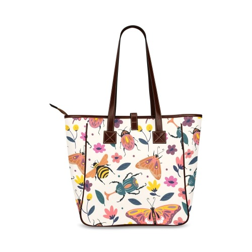 Beautiful Colorful Bright Insects Classic Tote Bag (Model 1644)