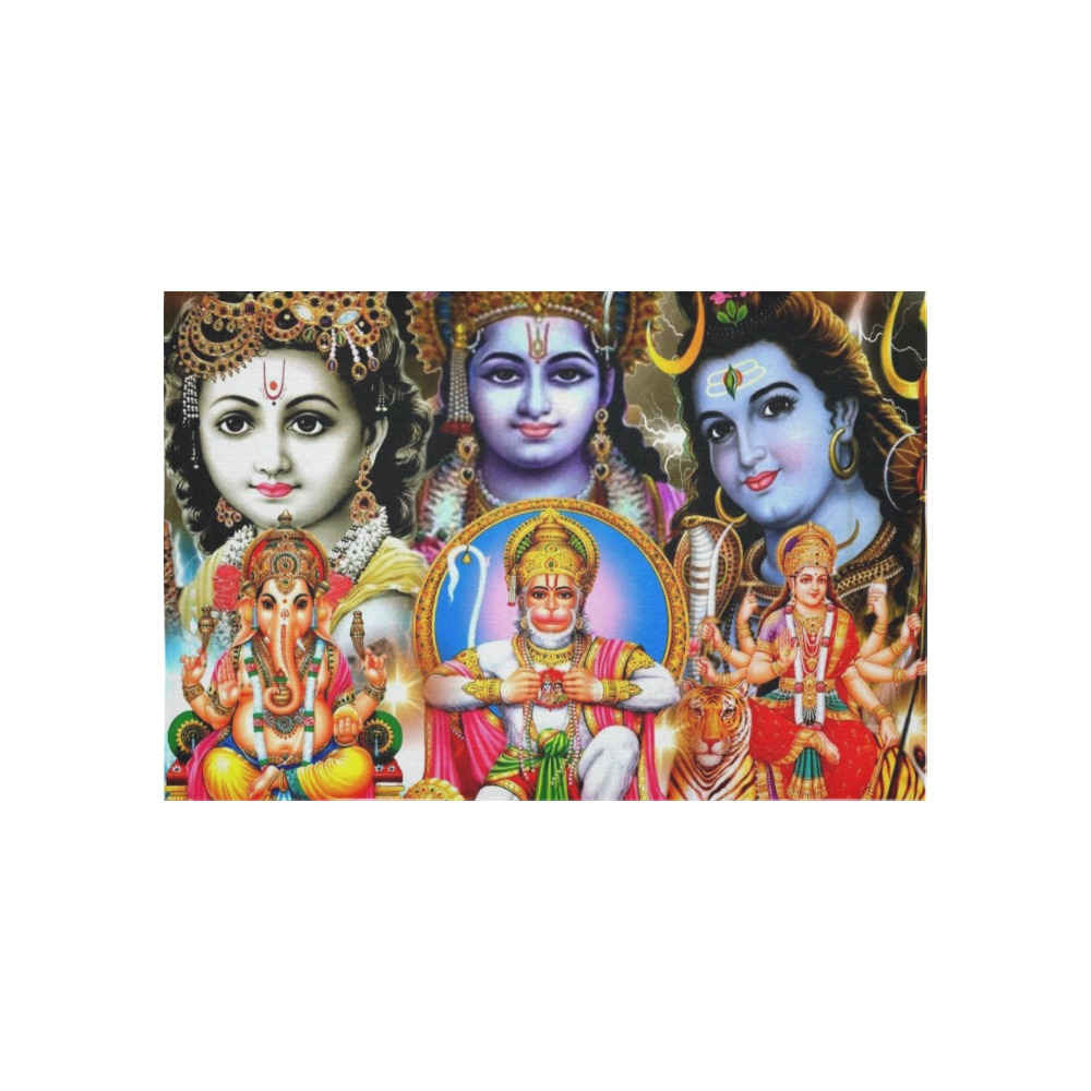 """HINDUISM Cotton Linen Wall Tapestry 60""""x 40"""""""