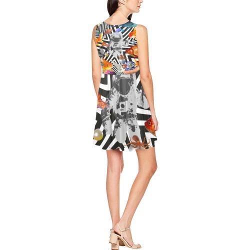 POINT OF ENTRY 2 Thea Sleeveless Skater Dress(Model D19)