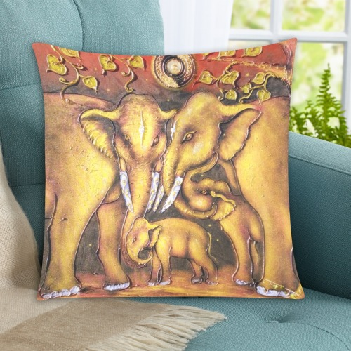 """Elephant7 Custom Zippered Pillow Cases 20""""x20"""" (Two Sides)"""