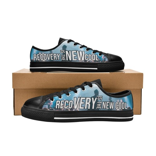 Color and Black Women's Classic Canvas Shoes (Model 018)