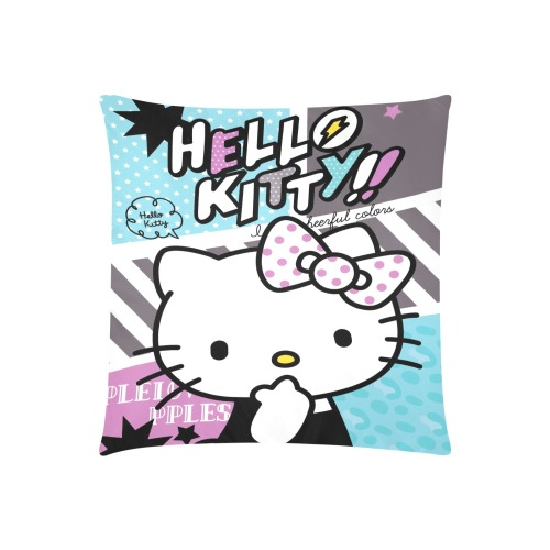 """Hello Kitty 4 Custom Zippered Pillow Cases 20""""x20"""" (Two Sides)"""