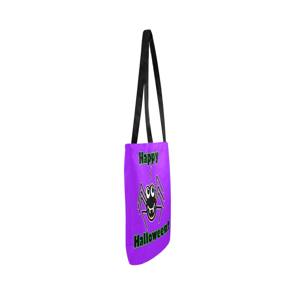 Happy Halloween Spider Reusable Shopping Bag Model 1660 (Two sides)