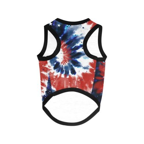 Patriotic Tye Dye All Over Print Pet Tank Top