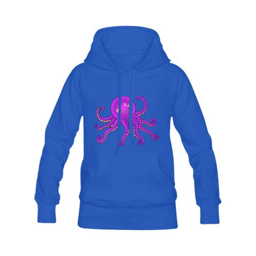 Octopus Sealife Cartoon Women's Classic Hoodies (Model H07)