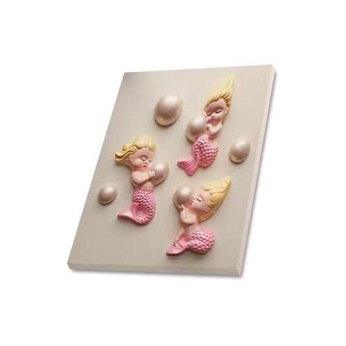 "Mermaids / Bubbles Frame Canvas Print 16""x20"""