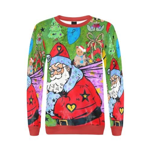 Christmas 2021 by Nico Bielow All Over Print Crewneck Sweatshirt for Women (Model H18)