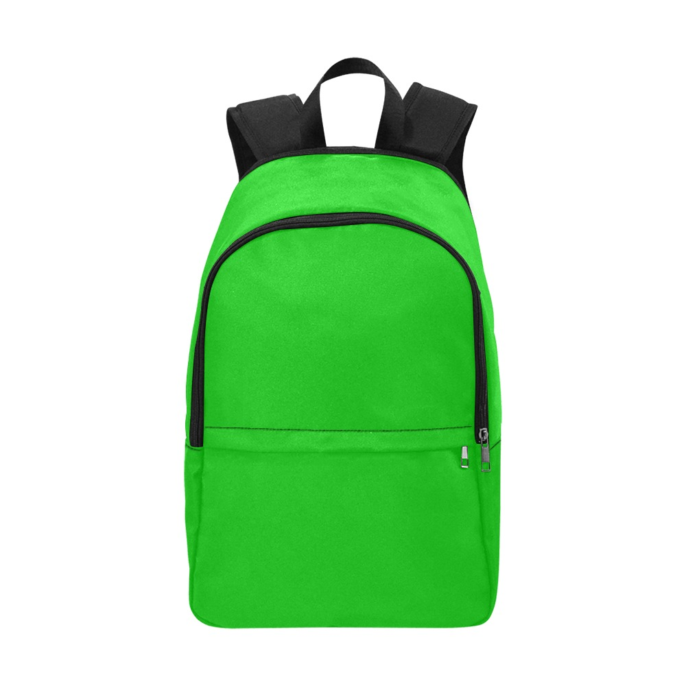 Merry Christmas Green Solid Color Fabric Backpack for Adult (Model 1659)