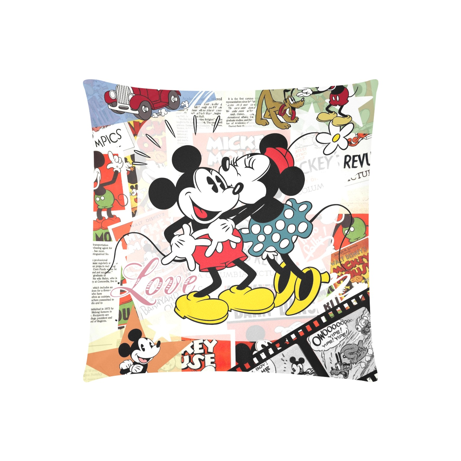 """Mickey/Mini 2 Custom Zippered Pillow Cases 20""""x20"""" (Two Sides)"""