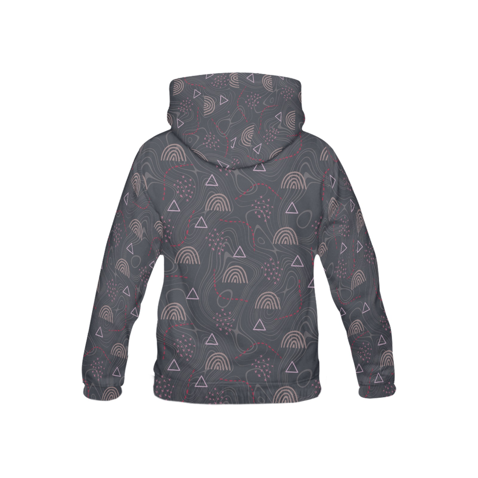 Rainbow, doodles All Over Print Hoodie for Kid (USA Size) (Model H13)