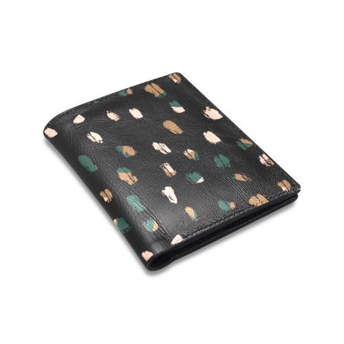 Spots, dots Men's Leather Wallet (Model 1612)