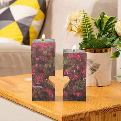Changing Seasons Collection Wooden Candle Holder (Without Candle)