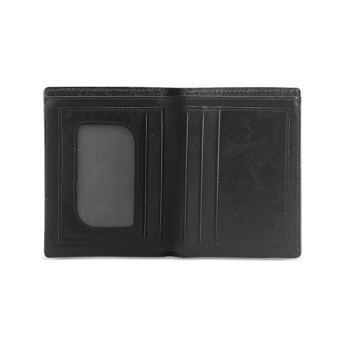 YoK_Japanese_Fusion_Logo Men's Leather Wallet (Model 1612)