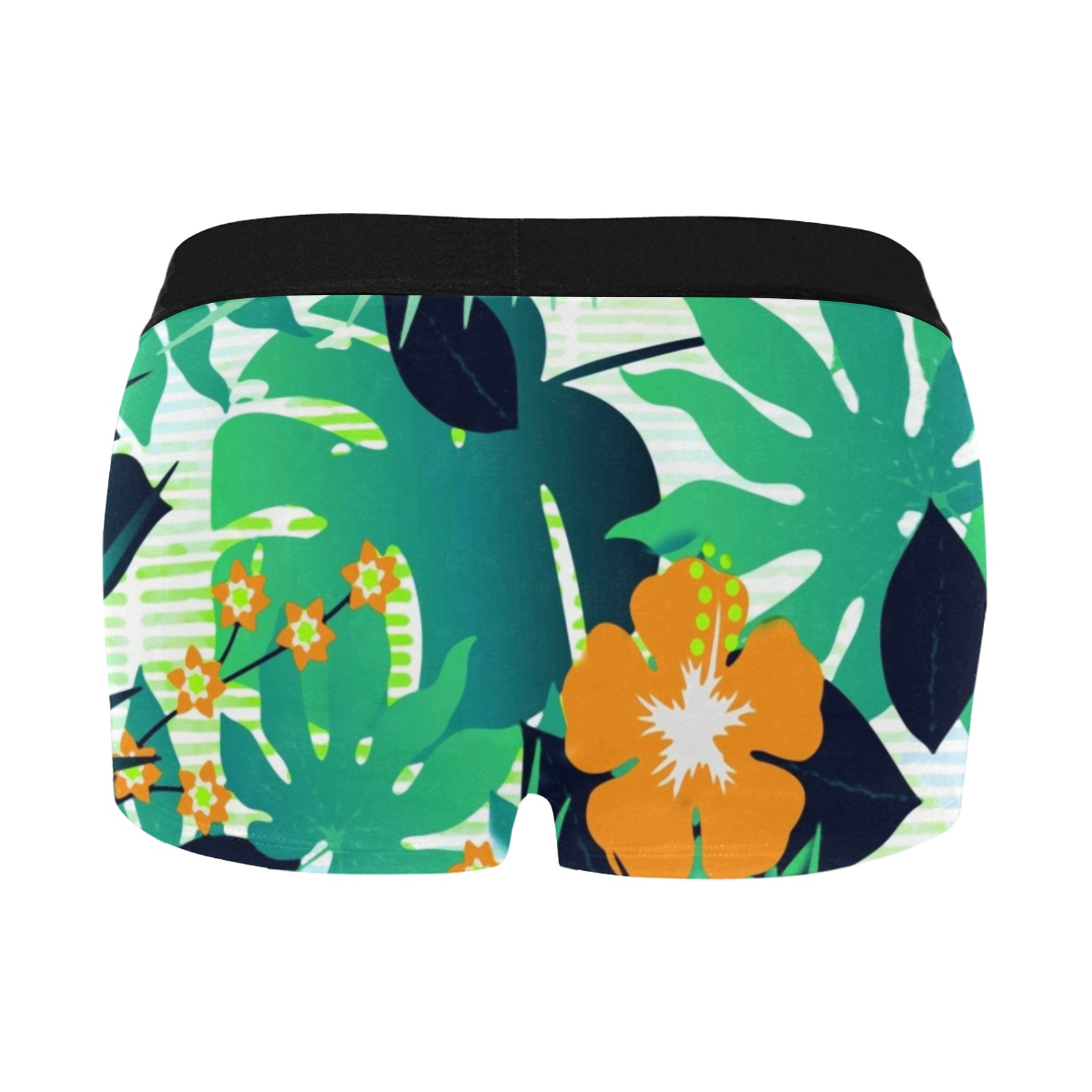 GROOVY FUNK THING FLORAL Men's All Over Print Boxer Briefs/Short Size (Model L22)