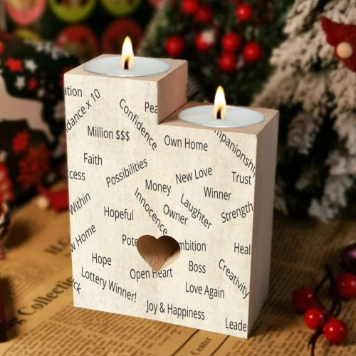 Candleholder of Positive Intentions Wooden Candle Holder (Without Candle)