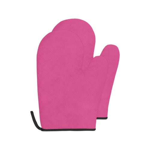 pink Oven Mitt (Two Pieces)