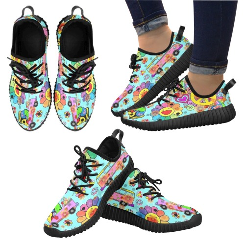 Peace 2021 Pop Art by Nico Bielow Grus Men's Breathable Woven Running Shoes (Model 022)