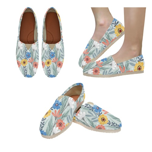 Beautiful Spring Floral Women's Classic Canvas Slip-On (Model 1206)