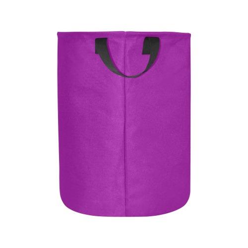 color dark magenta Laundry Bag (Large)