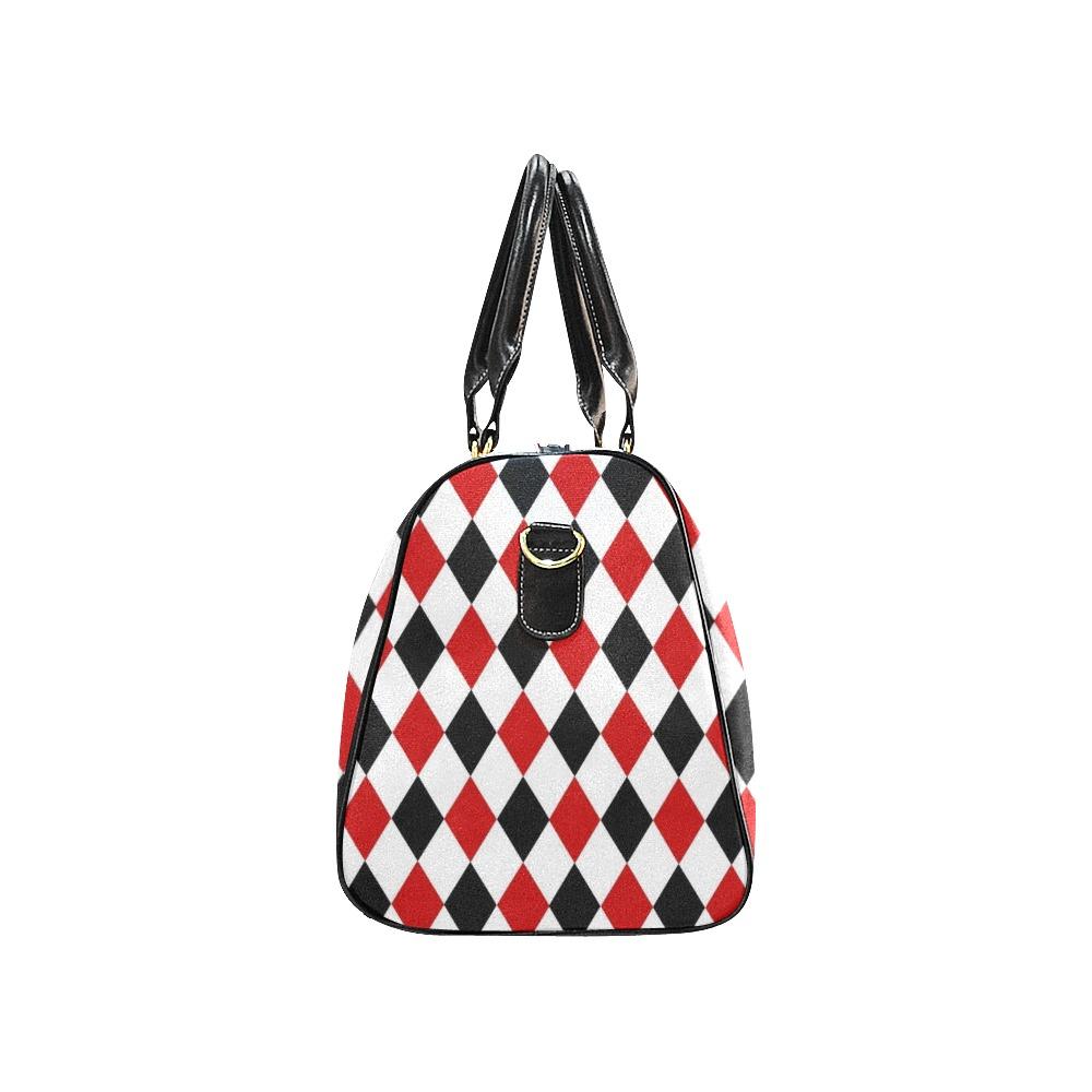 DIAMOND PATTERN New Waterproof Travel Bag/Small (Model 1639)