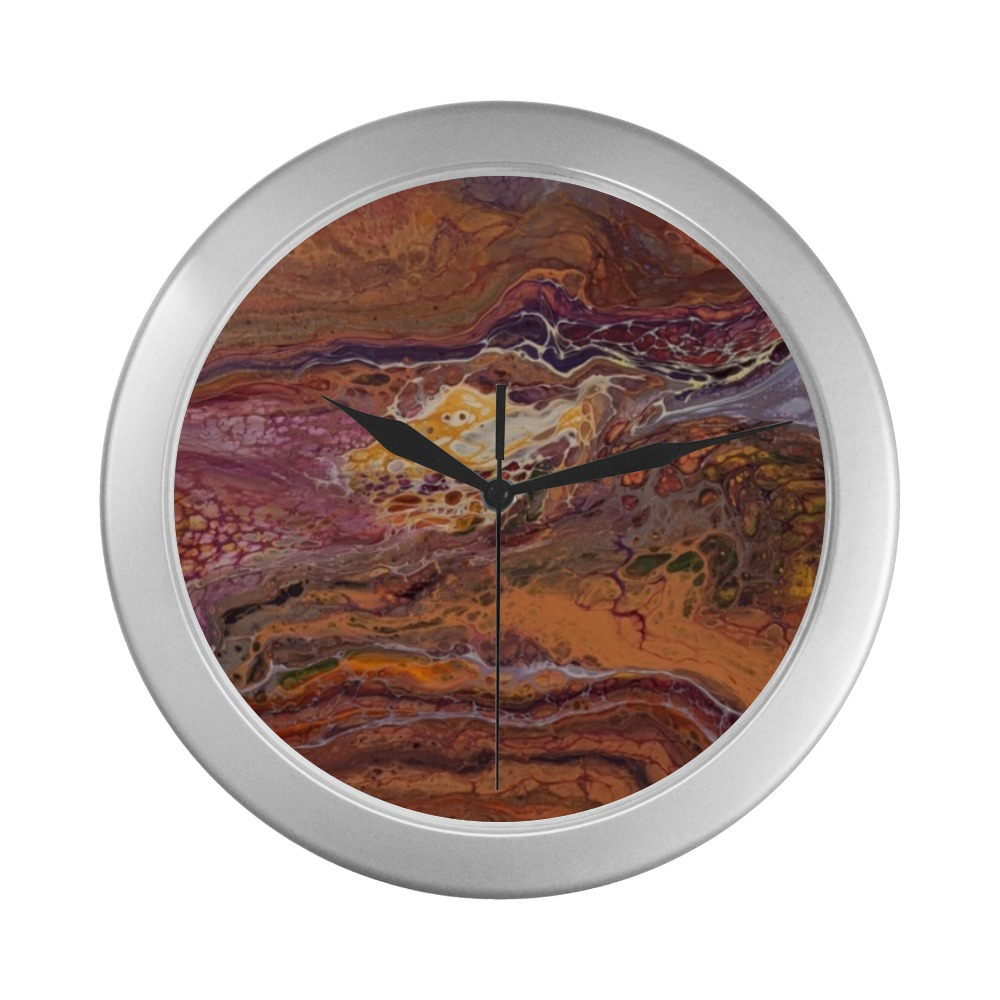Liberation - A Prayer For The Overwhelmed - Silver Color Wall Clock