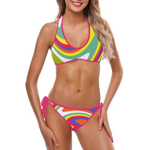 PATTERN-562 Custom Halter & Side Tie Bikini Swimsuit (Model S06)