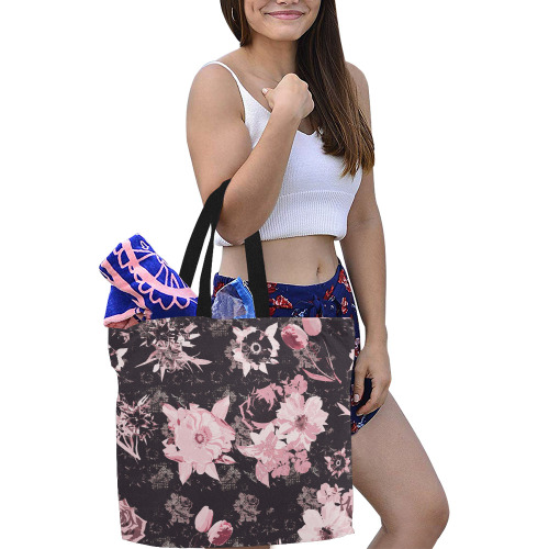 Pink shines in the dark_tote bag All Over Print Canvas Tote Bag/Large (Model 1699)