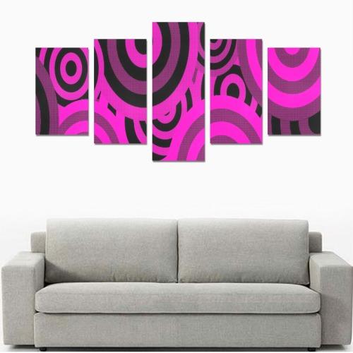 ROUND AND ROUND WE GO 3 Canvas Print Sets C (No Frame)