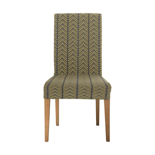 chevrons Removable Dining Chair Cover