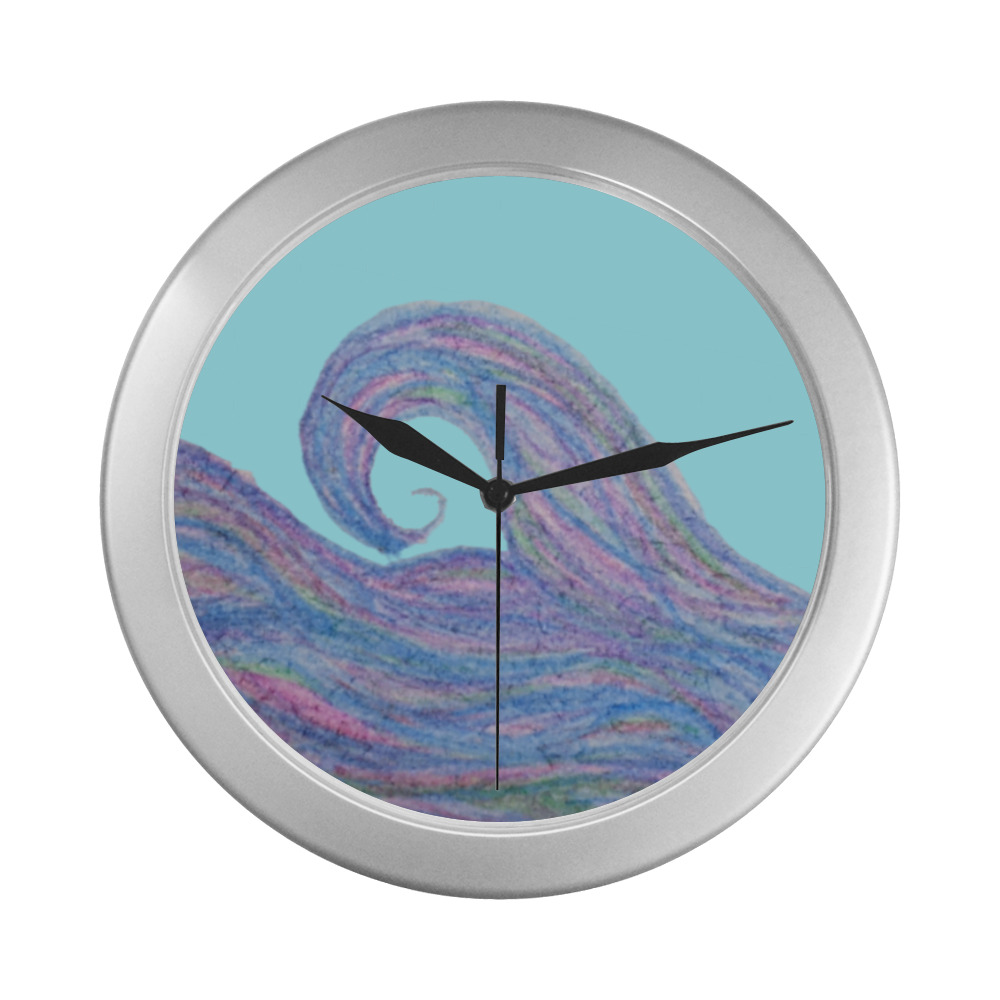 The Wave Silver Color Wall Clock