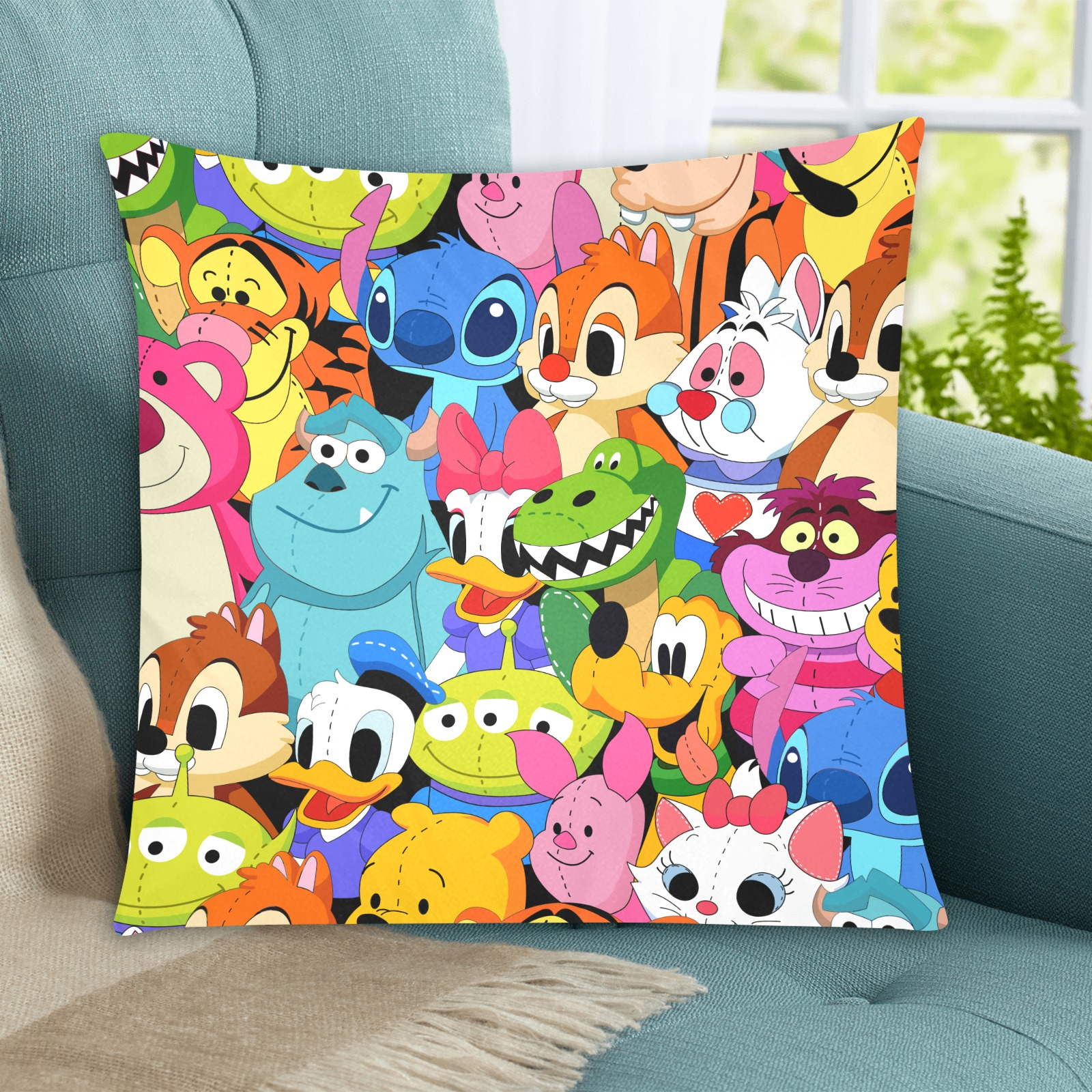 """cartoon characters Custom Zippered Pillow Cases 20""""x20"""" (Two Sides)"""