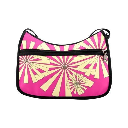 bb Hot Pink / Cream Pinwheels Crossbody Bags (Model 1616)