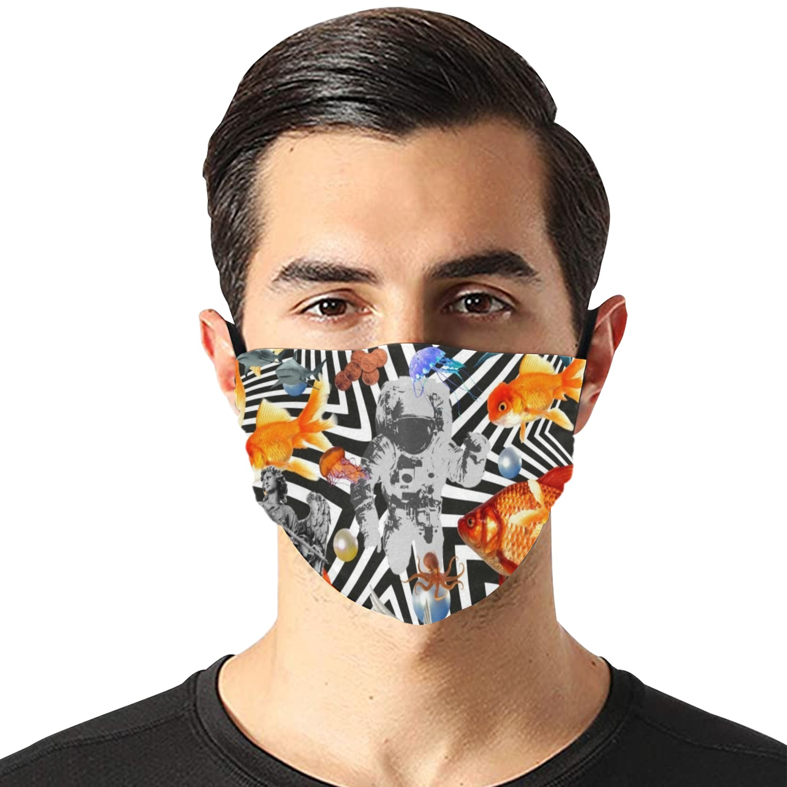POINT OF ENTRY 2 Flat Mouth Mask with Drawstring