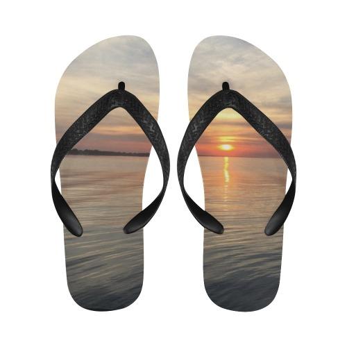 Early Sunset Collection Flip Flops for Men/Women (Model 040)