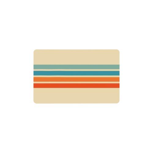 Insert Card / Retro Stripe Wallet Insert Card (Two Sides)