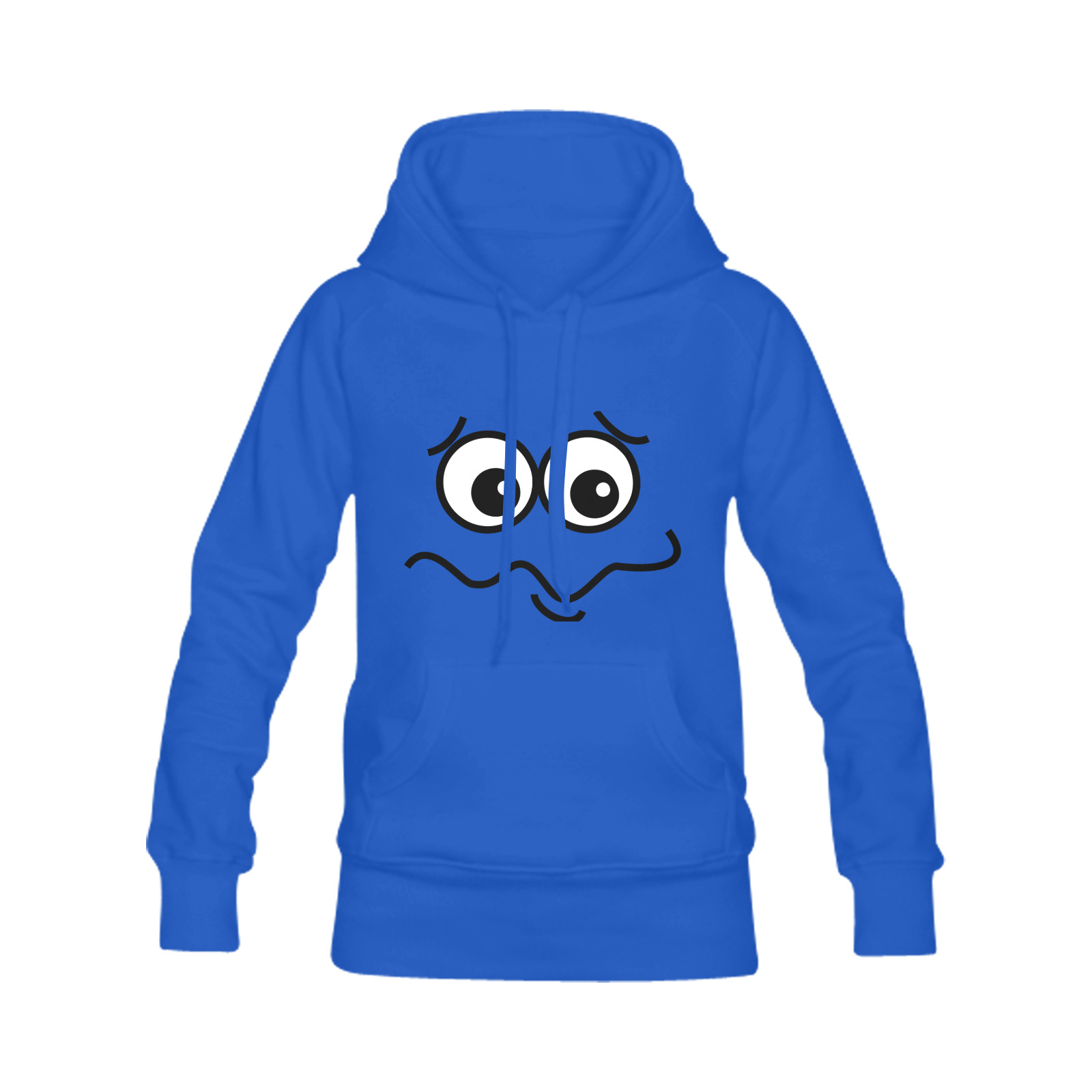 Funny Confused Comic Cartoon Face Men's Classic Hoodie (Remake) (Model H10)