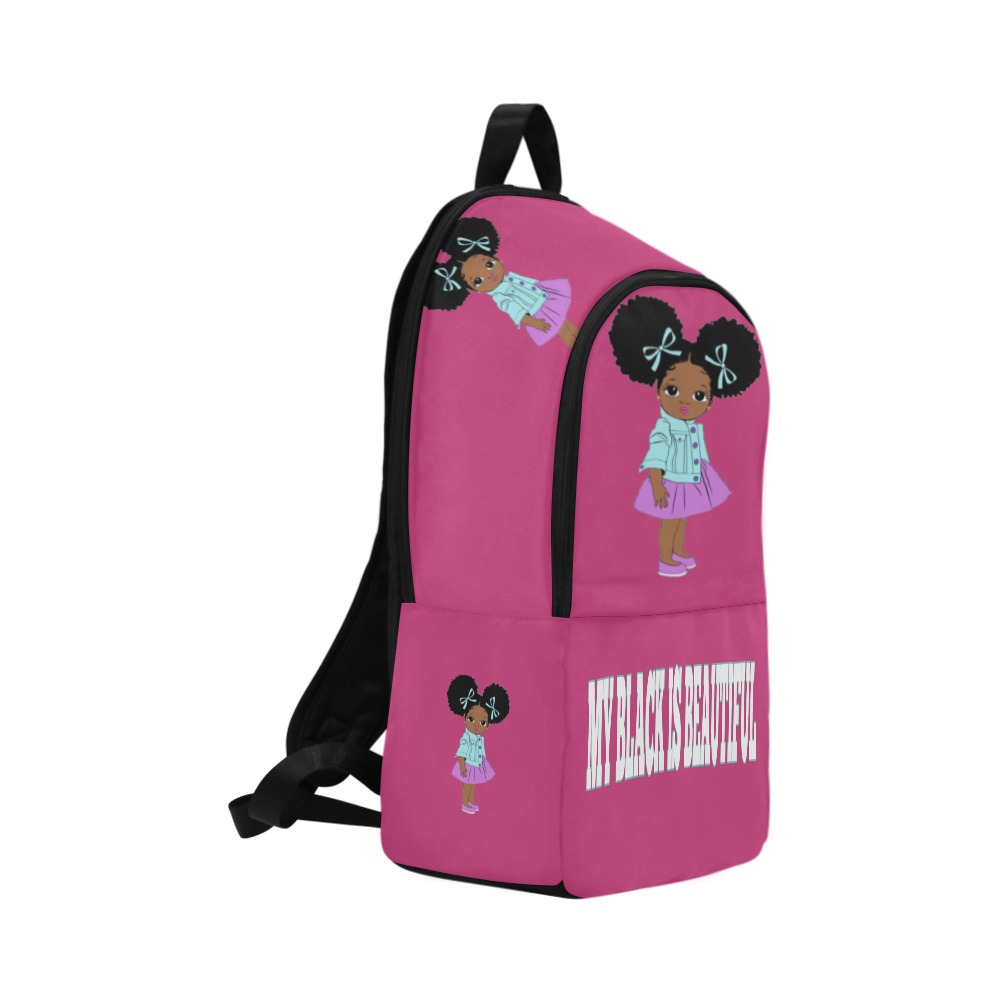 Girl with Puffs Purple Skirt Fabric Backpack for Adult (Model 1659)