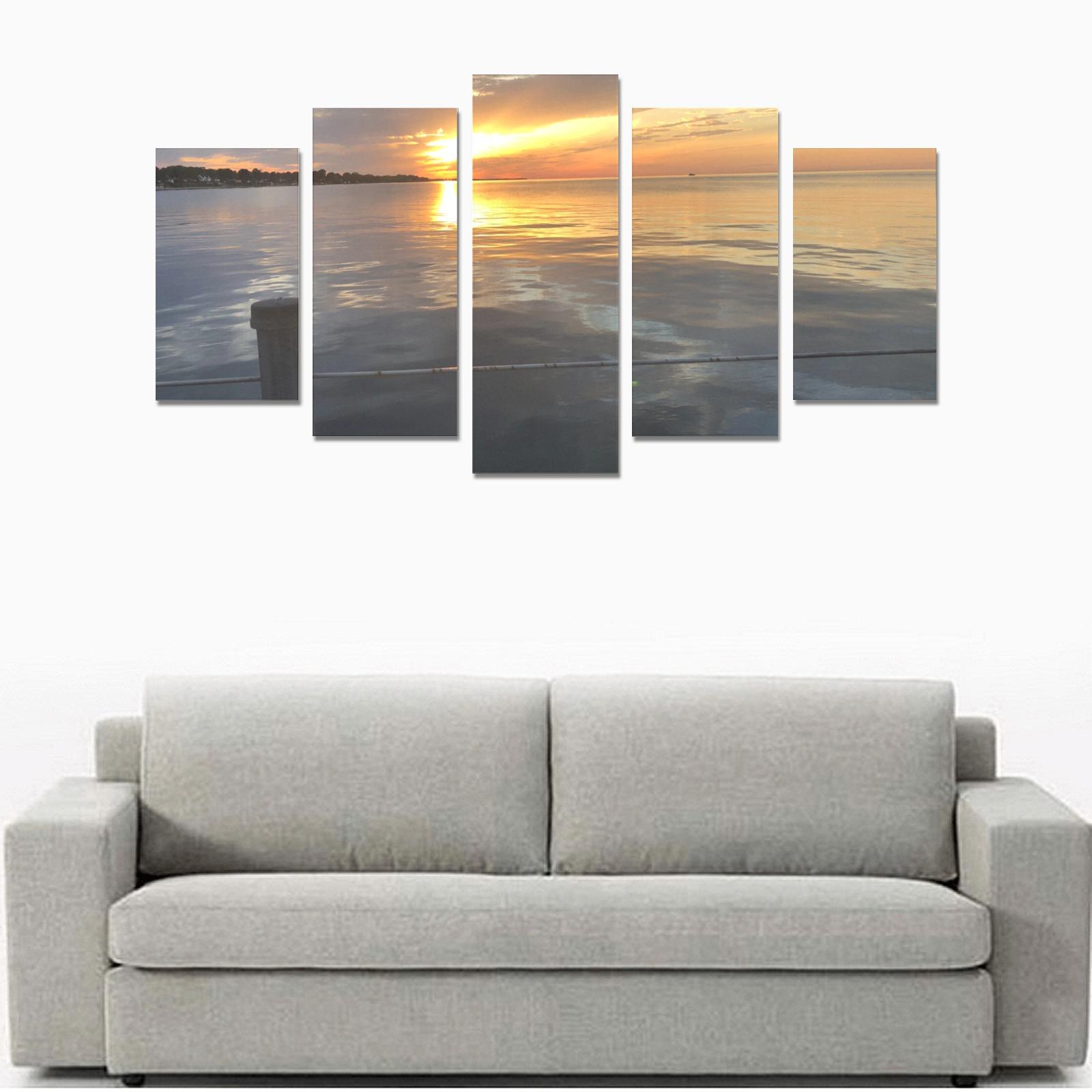 Pier Sunset Collection Canvas Print Sets A (No Frame)