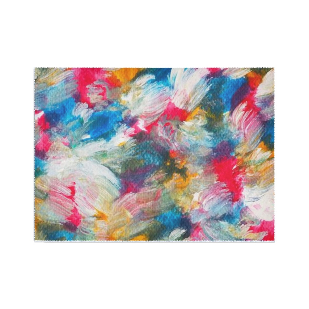 Colorful Abstract Painting Area Rug7'x5'