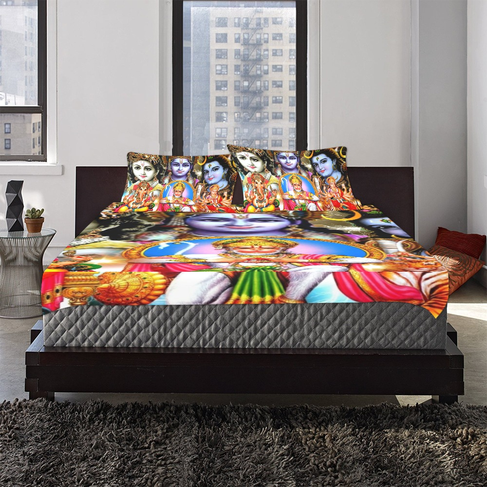 HINDUISM 3-Piece Bedding Set