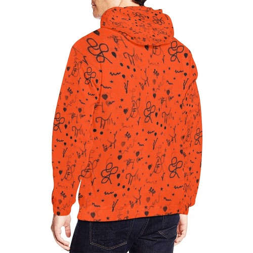 Simply Pop by Nico Bielow All Over Print Hoodie for Men (USA Size) (Model H13)