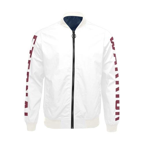 Warrior eternal White All Over Print Bomber Jacket for Men (Model H19)