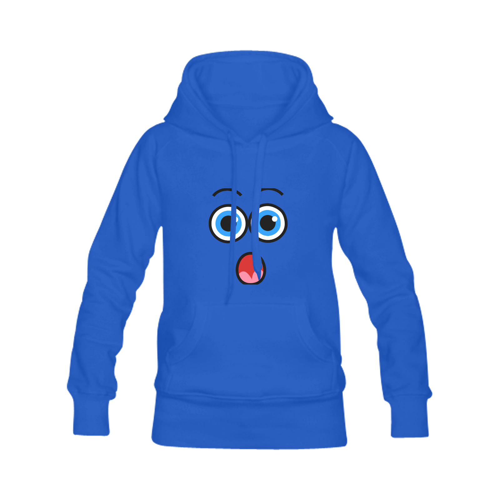 Funny Comic Cartoon Expressive Shocked Face Men's Classic Hoodie (Remake) (Model H10)