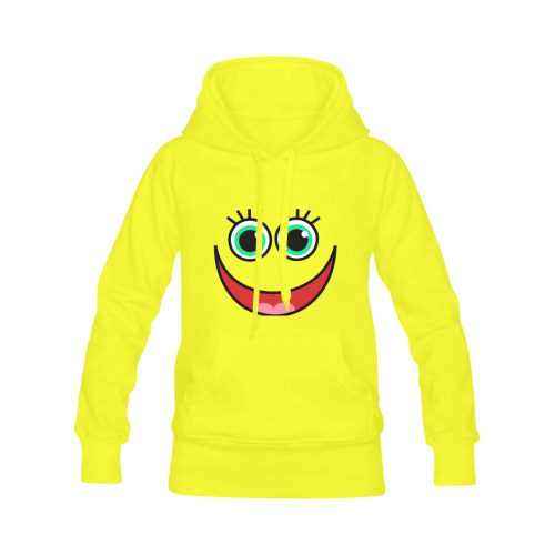 Don't Worry Be Happy Cartoon Face Men's Classic Hoodie (Remake) (Model H10)