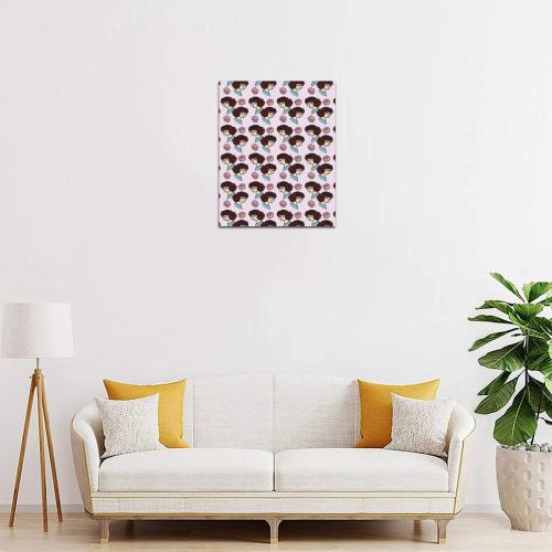 "redhead girl pink Frame Canvas Print 8""x10"""
