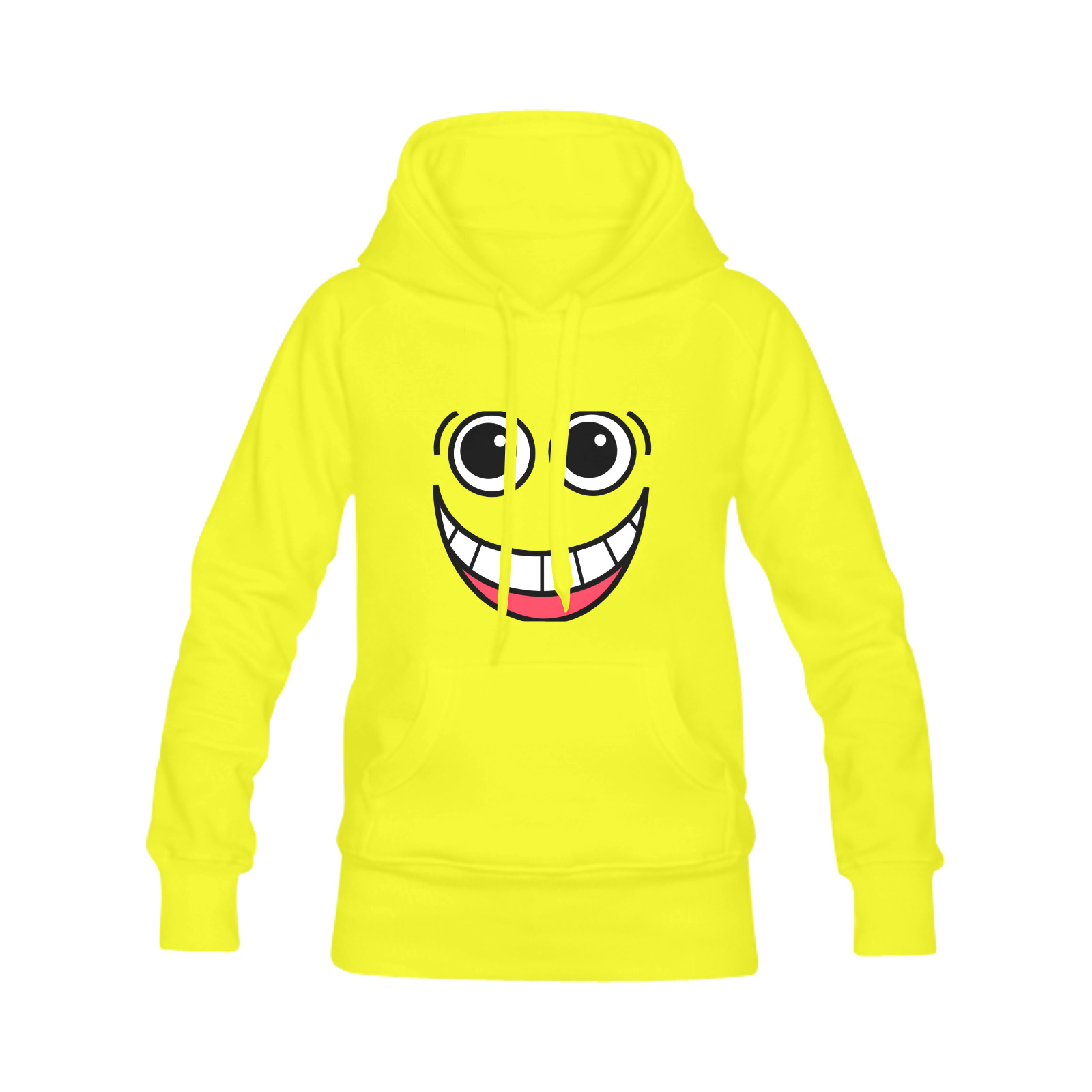 Happy Laughing Funny Comic Cartoon Face Men's Classic Hoodie (Remake) (Model H10)