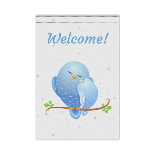 Welcome Garden Flag 12''x18''(Without Flagpole)